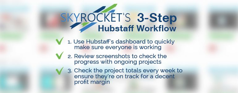 Skyrocket Hubstaff workflow | How an SEO agency saves up to 30% in contractor fees by using Hubstaff