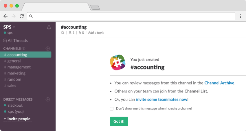 how to delete slack channels