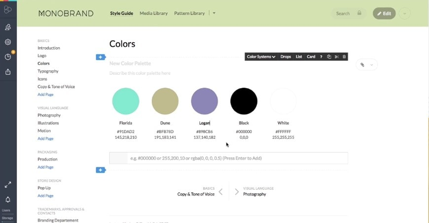 Frontify style guides can help freelancers brand themselves