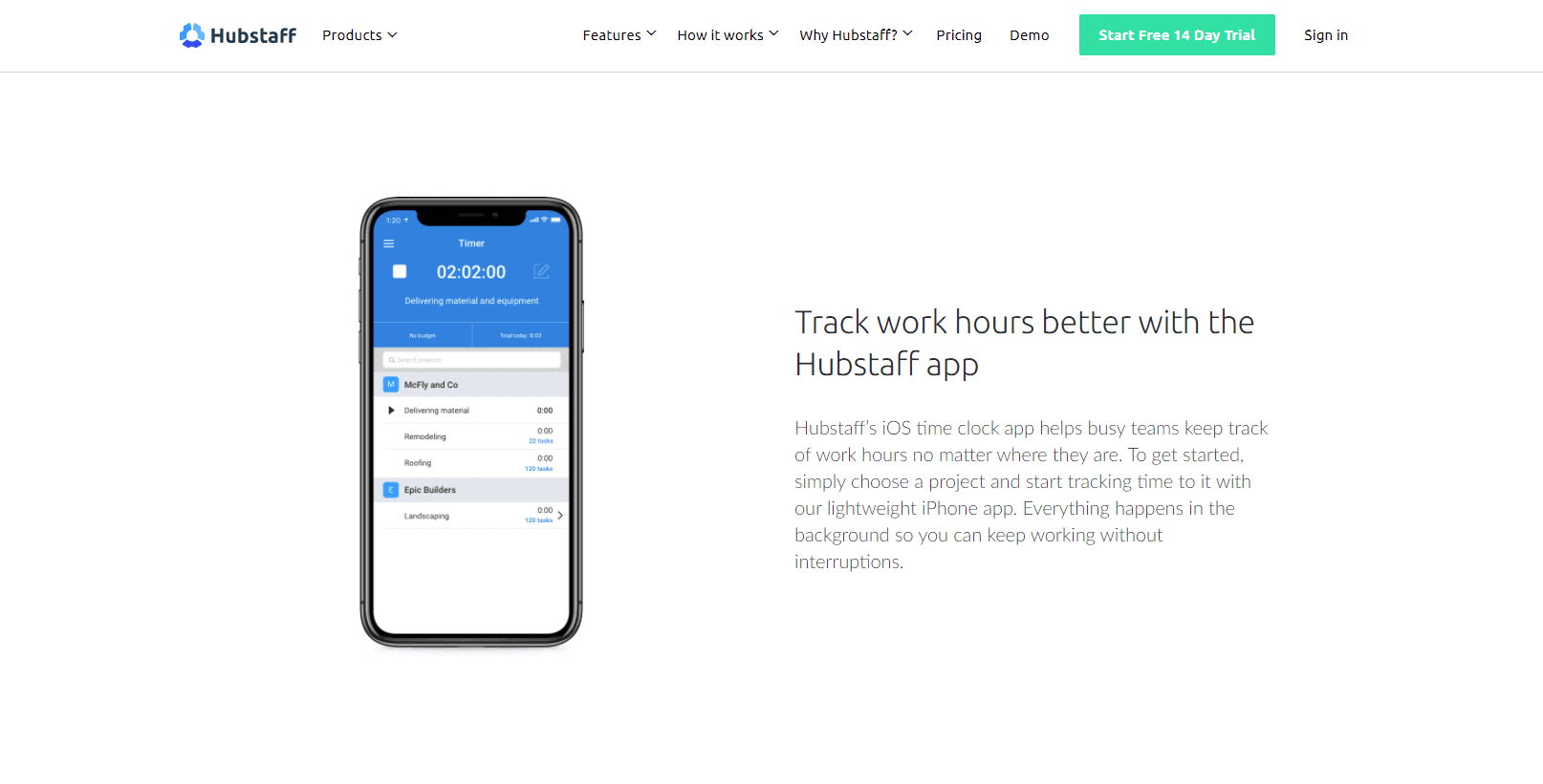 Hubstaff for iOS